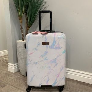 NWT Juicy Couture Rainbow Marble Collection Suitcase